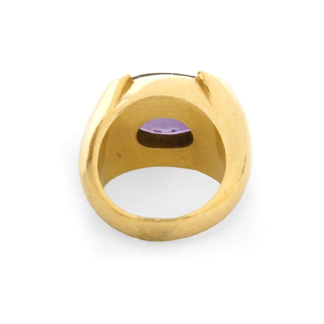 Vintage Amethyst and 18K Ring - 4