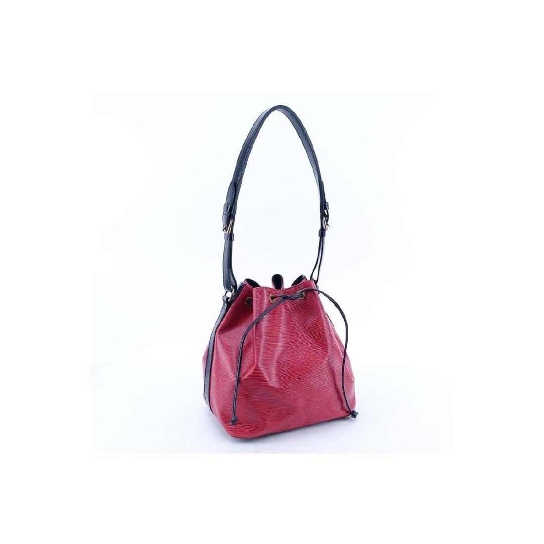 Louis Vuitton Red/Black Epi Leather Noe Bicolor