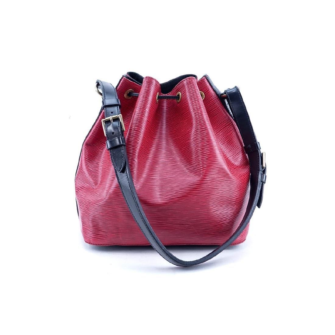 Louis Vuitton Red/Black Epi Leather Noe Bicolor - 2
