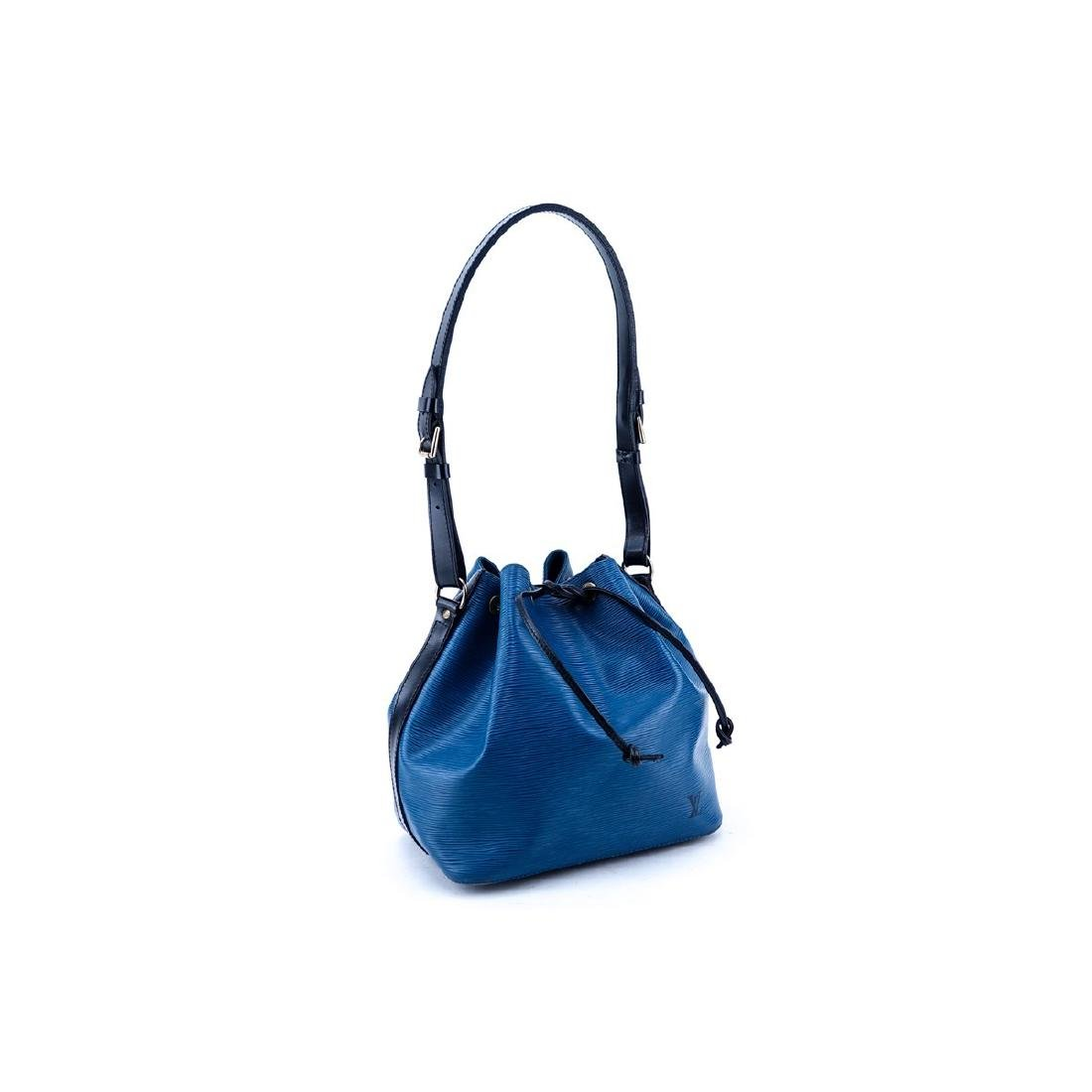 Louis Vuitton Blue/Black Epi Leather Noe Bicolor