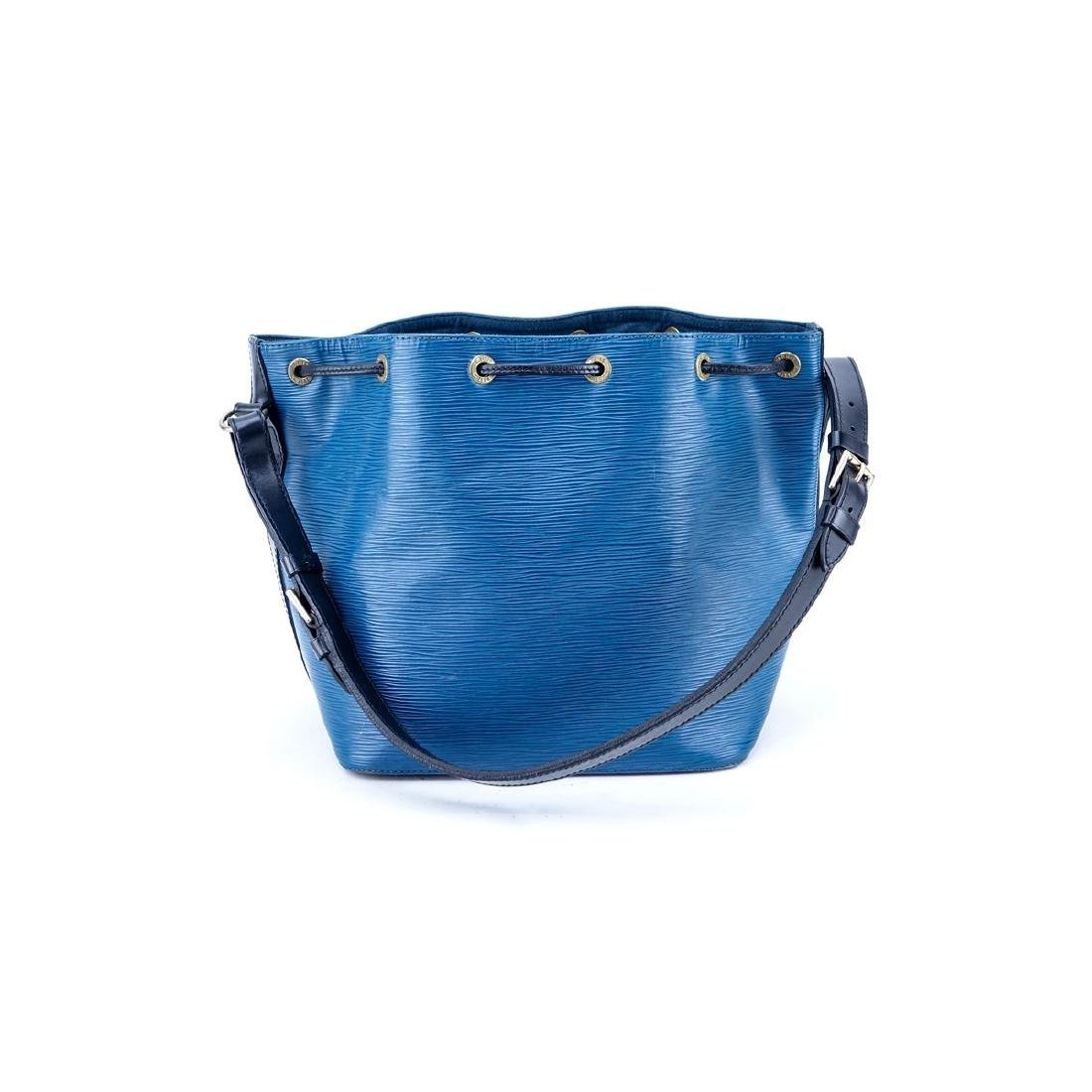 Louis Vuitton Blue/Black Epi Leather Noe Bicolor - 3