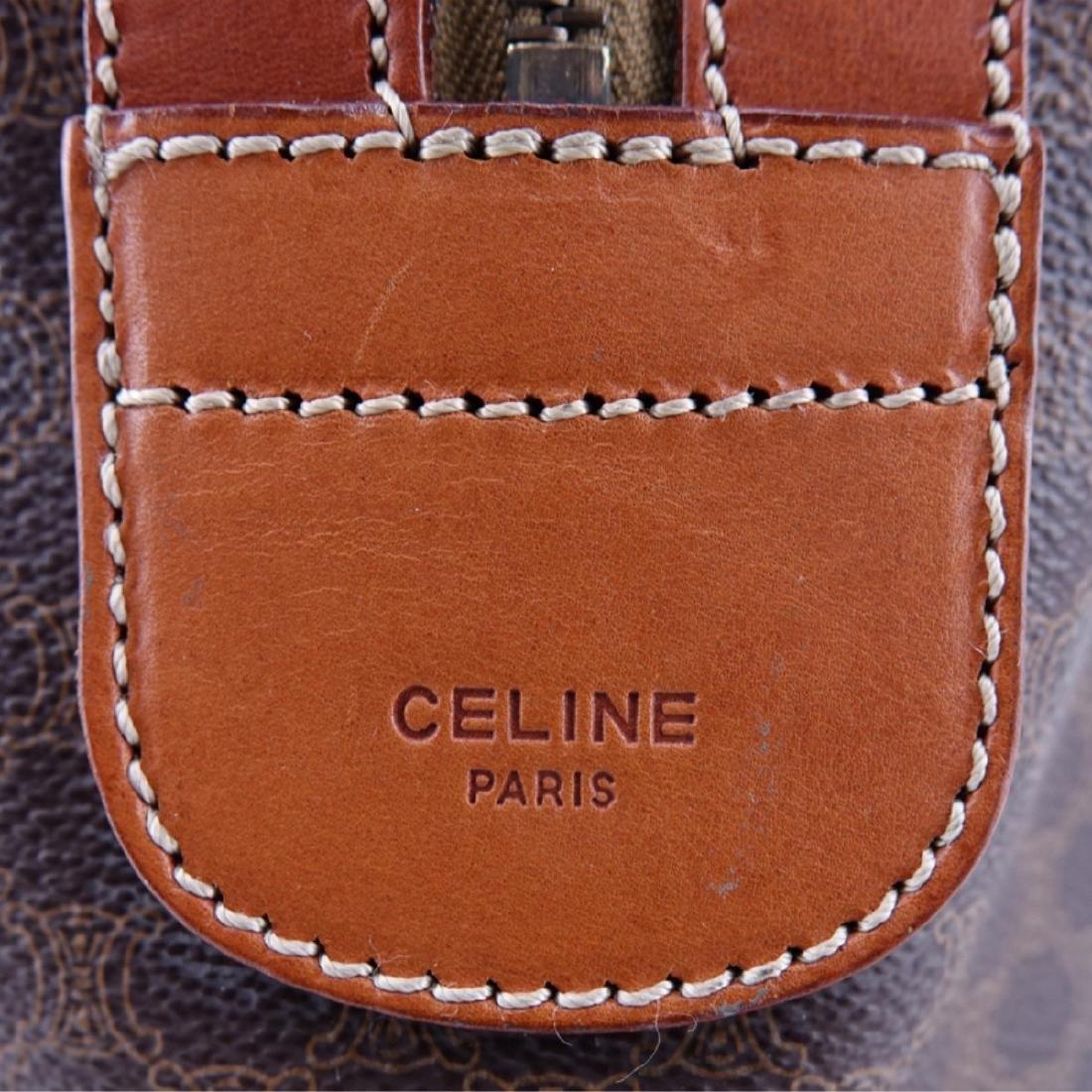 Celine Brown Macadem Coated Canvas Vintage Weekend - 4