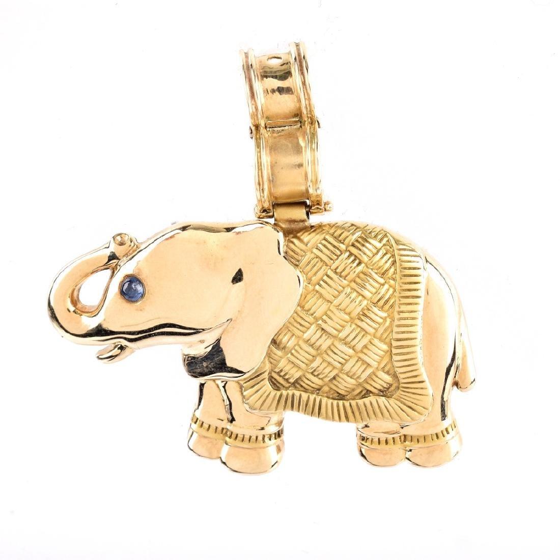 Vintage 14K Elephant Pendant