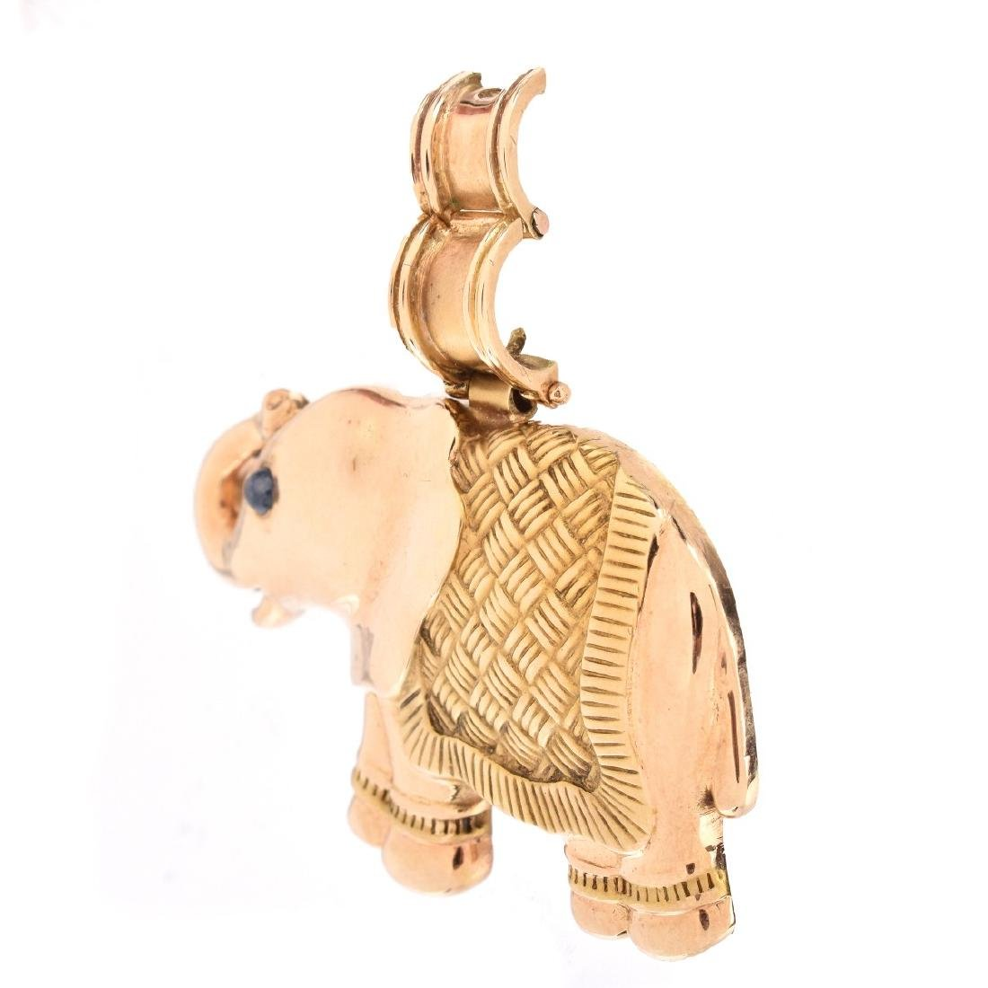 Vintage 14K Elephant Pendant - 2