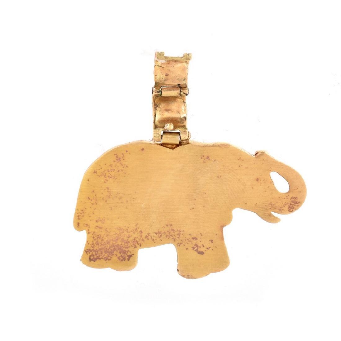 Vintage 14K Elephant Pendant - 3