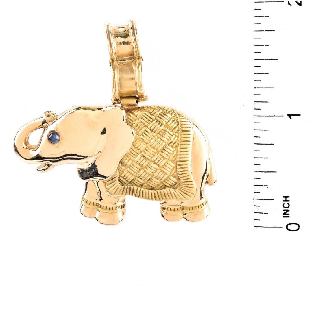 Vintage 14K Elephant Pendant - 4