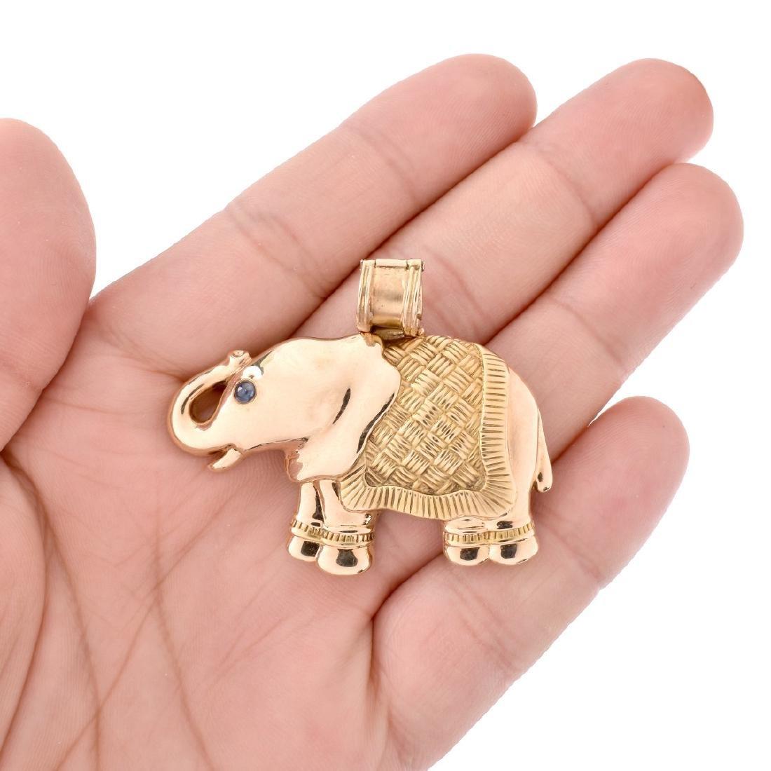 Vintage 14K Elephant Pendant - 5