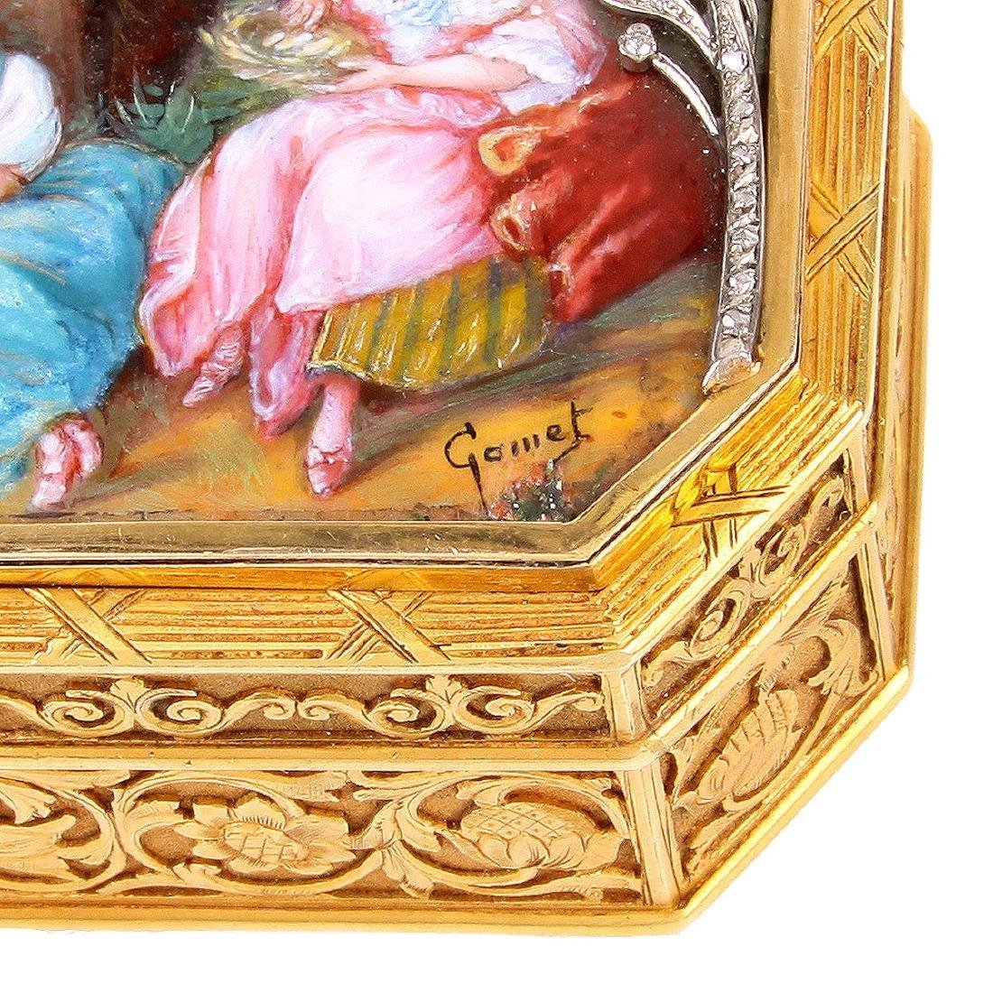19th Century Continental Gold and Enamel Snuff Box - 5