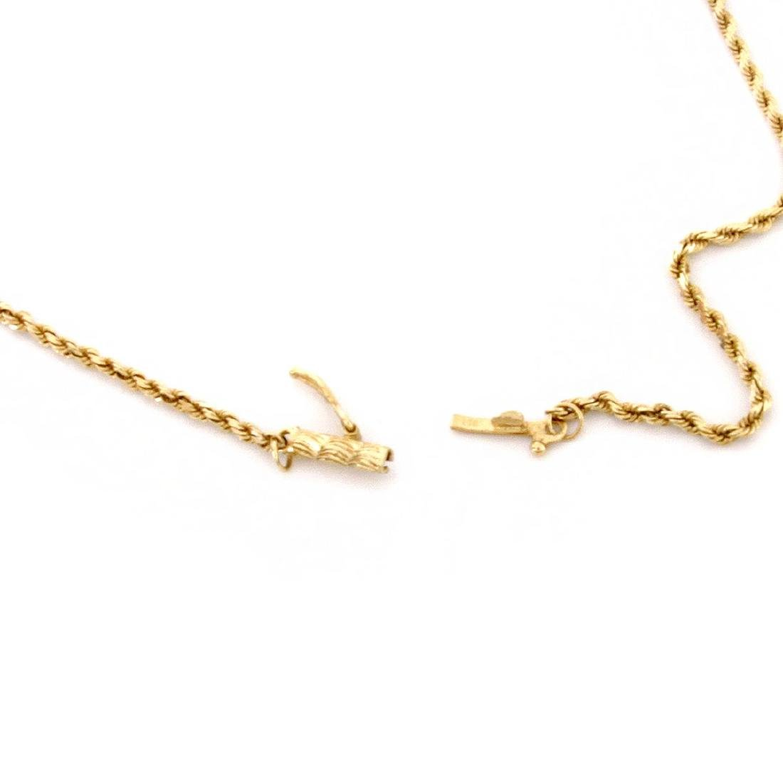 Diamond and 14K Gold Cat Pendant Necklace - 4