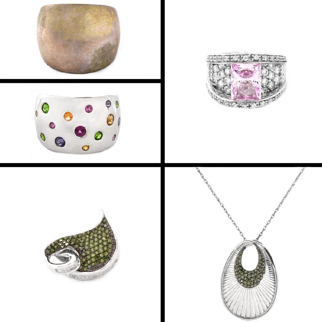 5 Pieces Sterling Silver Fashion Jewelry