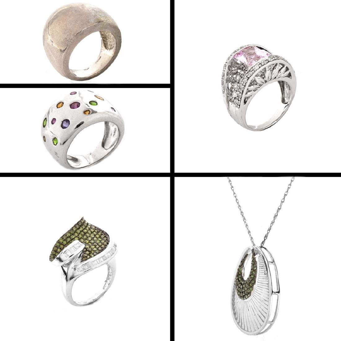 5 Pieces Sterling Silver Fashion Jewelry - 2