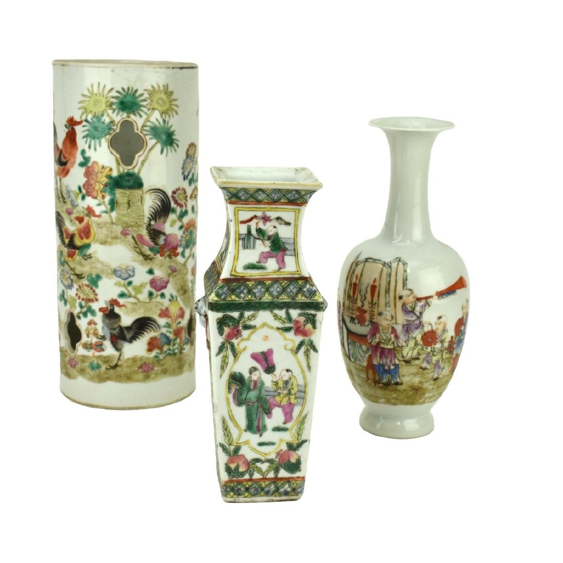 Grouping of Three (3)  Antique Chinese Porcelain