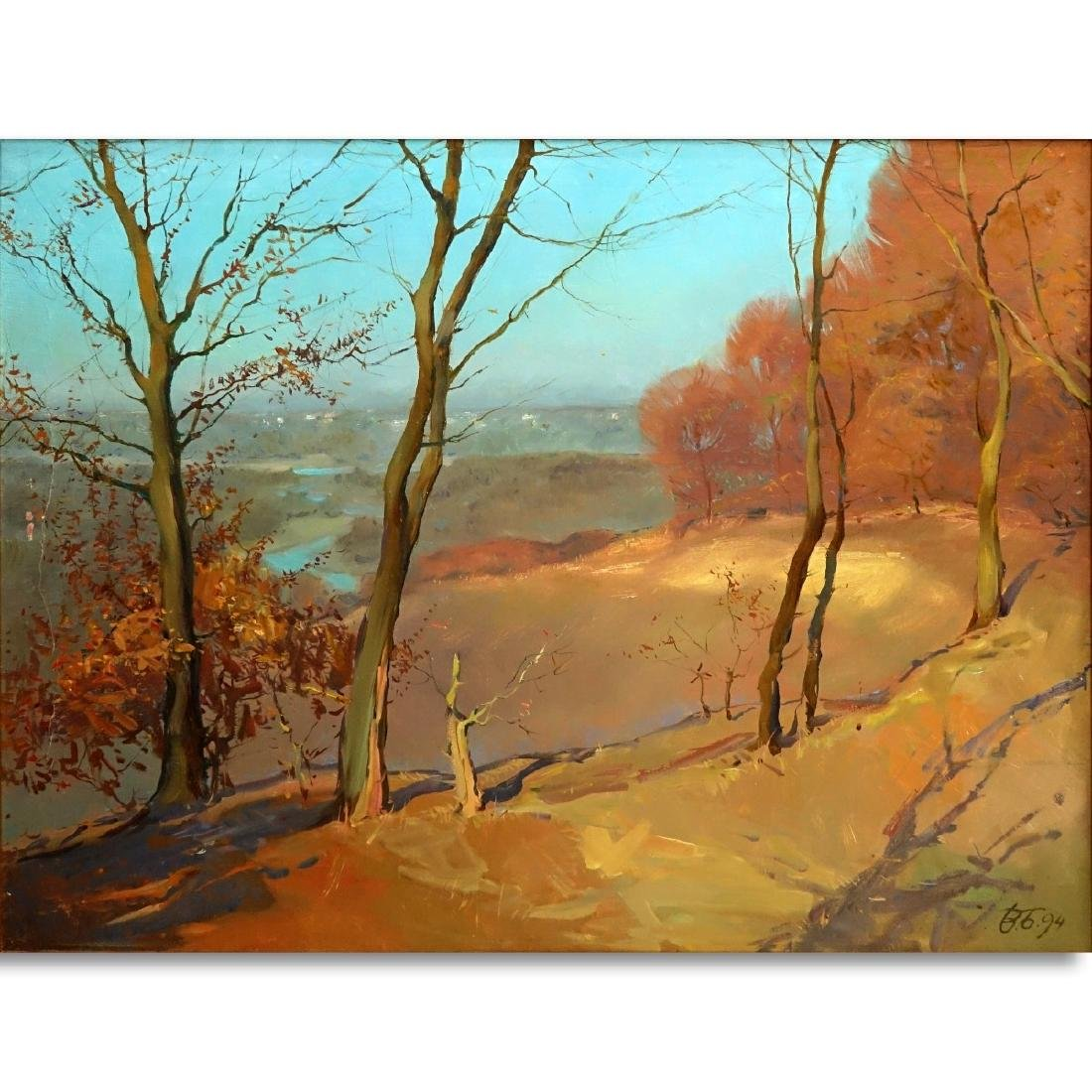 20th Century Oil On Board, Landscape Scene