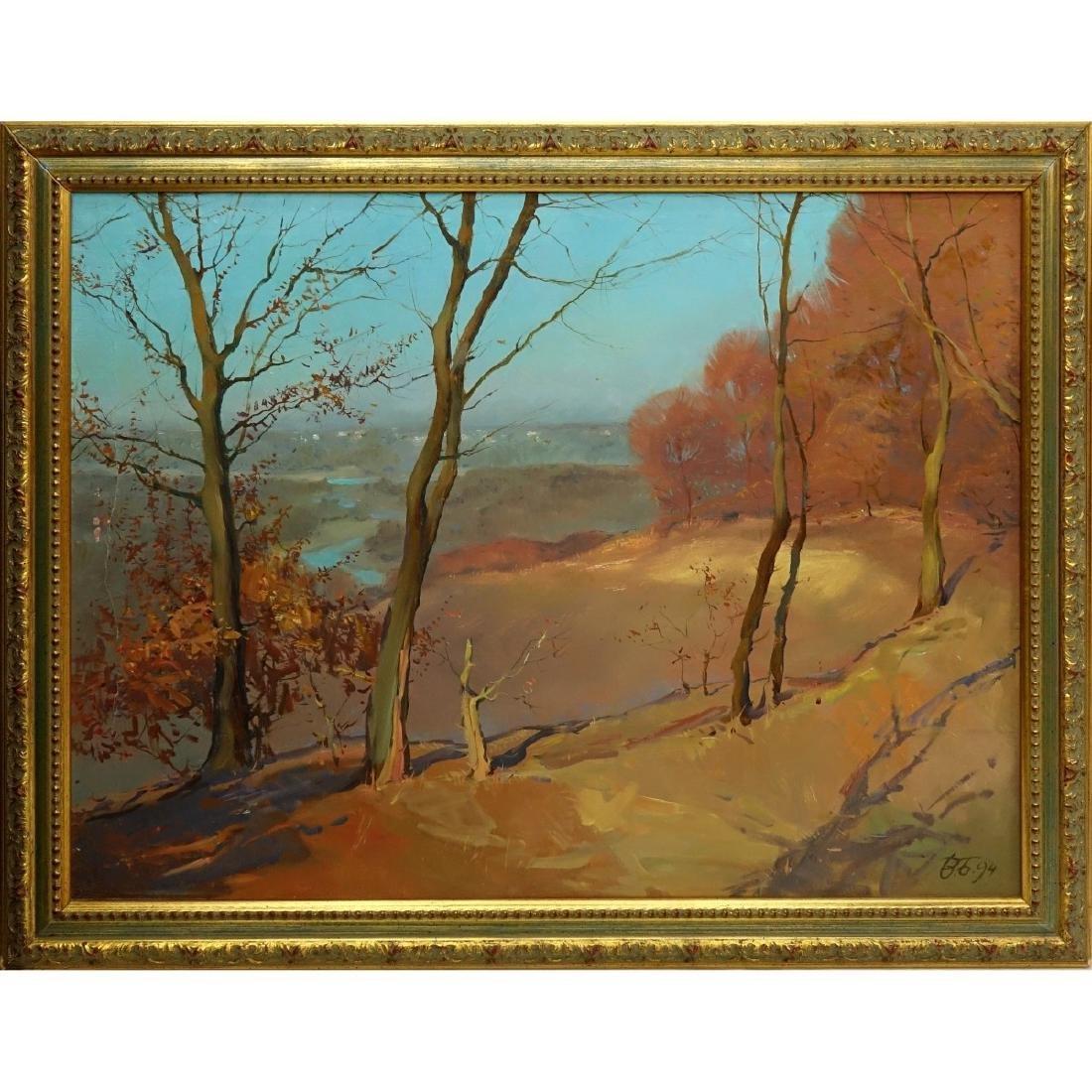 20th Century Oil On Board, Landscape Scene - 2