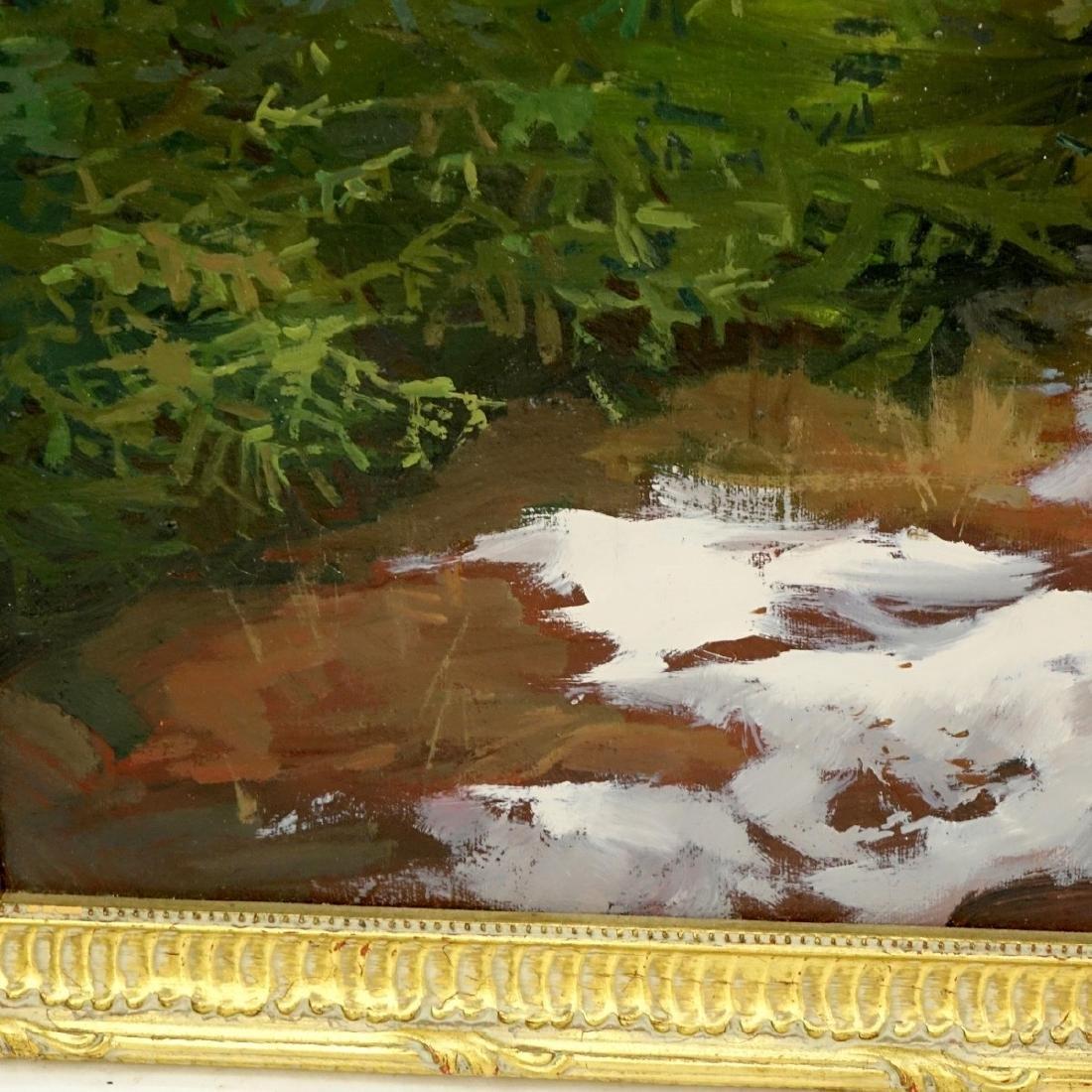 20th Century Oil On Board, Landscape Scene - 4