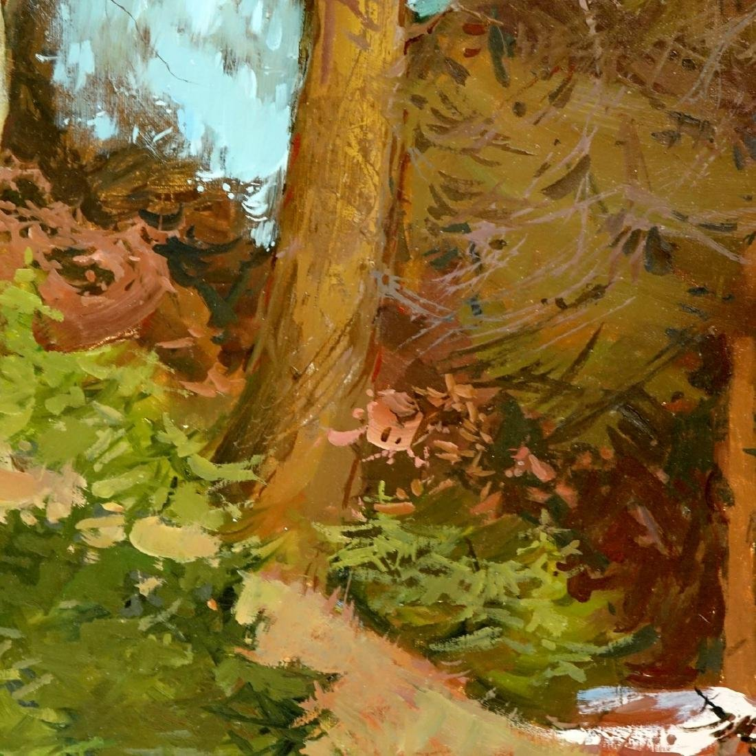 20th Century Oil On Board, Landscape Scene - 5