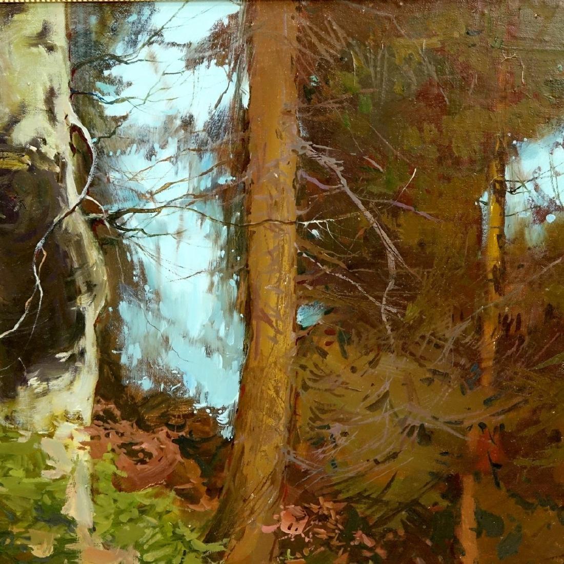 20th Century Oil On Board, Landscape Scene - 6