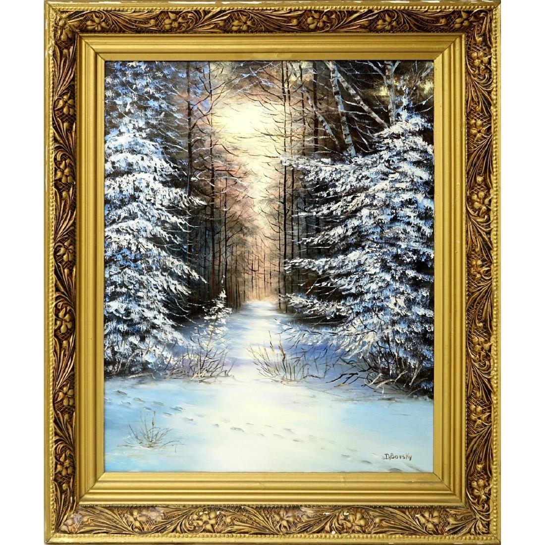 Dybovsky?, Russian (20th C.) Oil On Canvas - 2