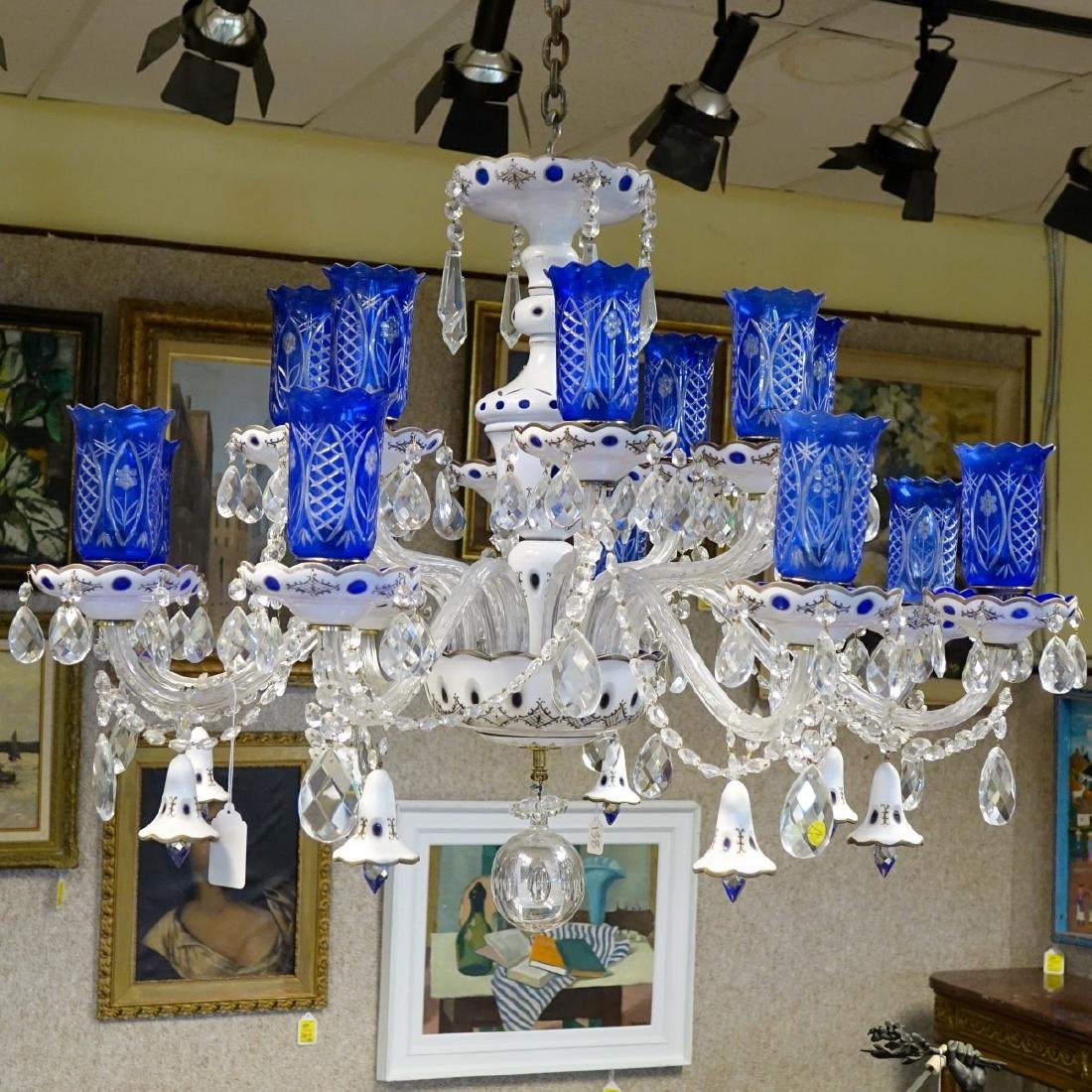 Vintage Bohemian Glass Chandelier