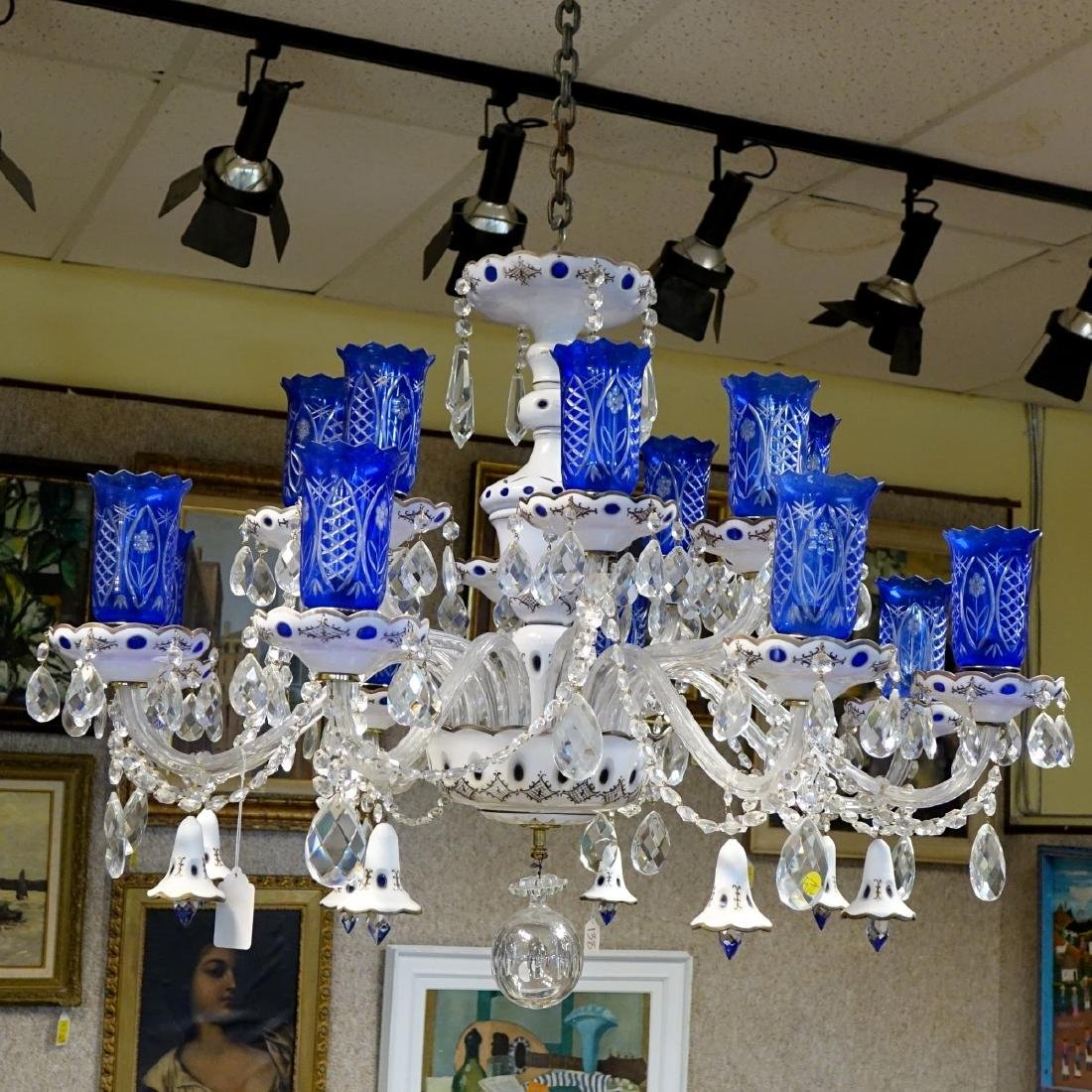 Vintage Bohemian Glass Chandelier - 2