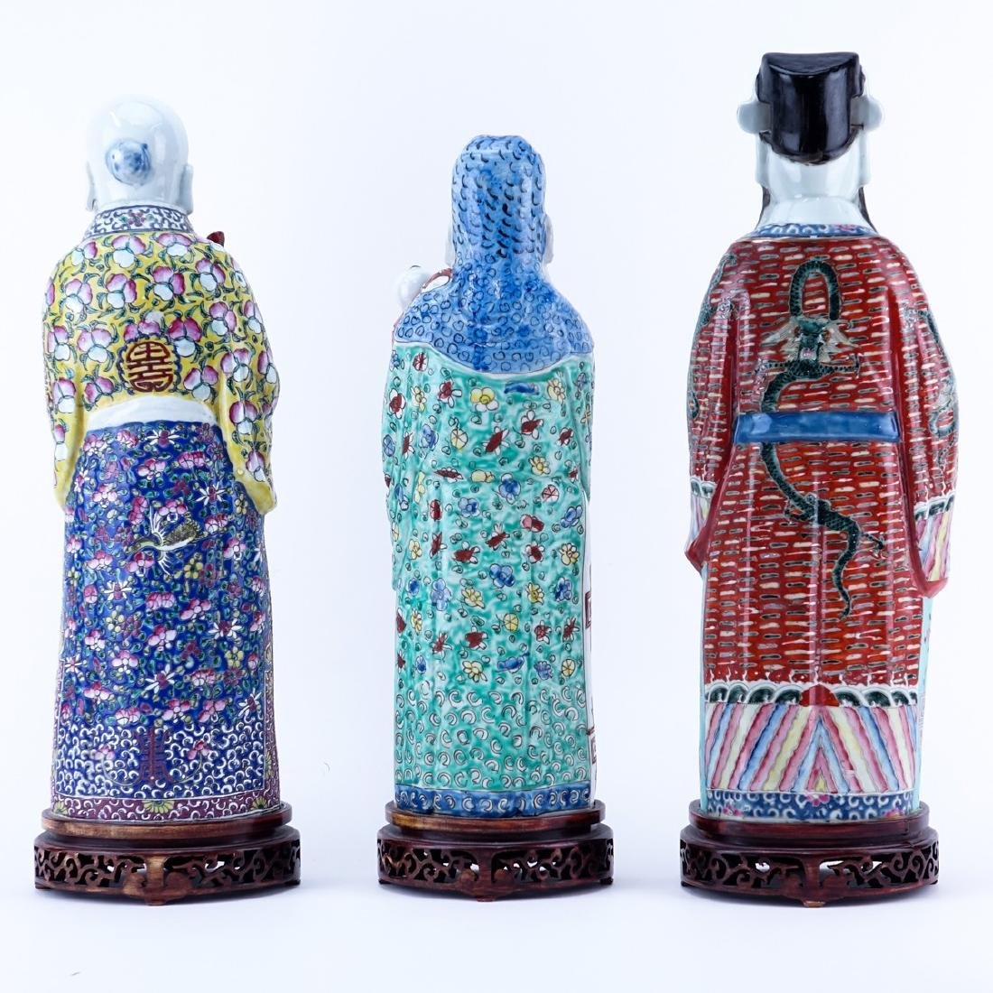 Three 20th C Chinese Porcelain Figures - 2
