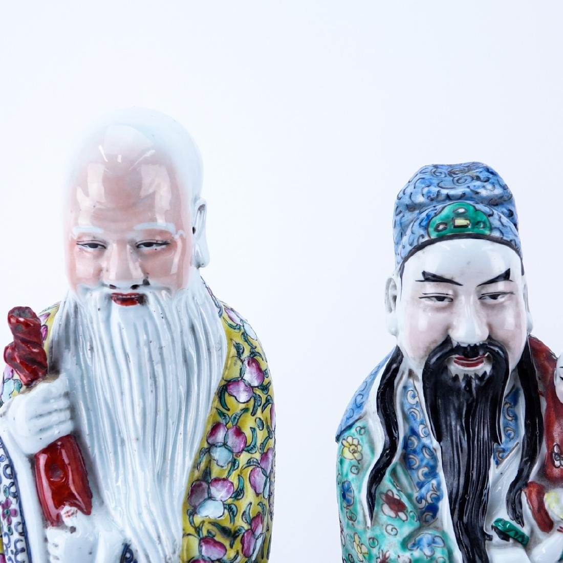 Three 20th C Chinese Porcelain Figures - 3