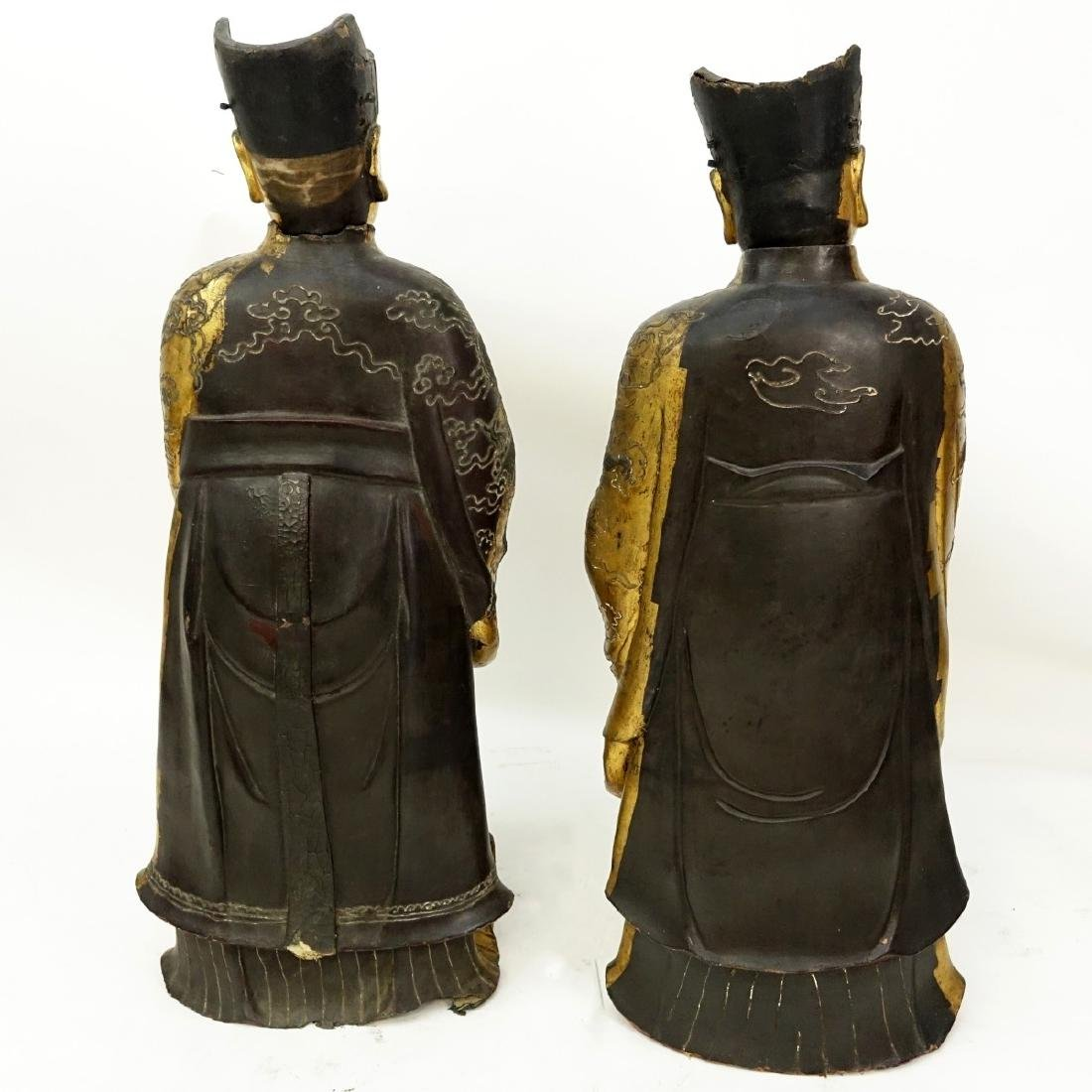 Chinese Daoist Gilt Lacquered Temple Figures - 5