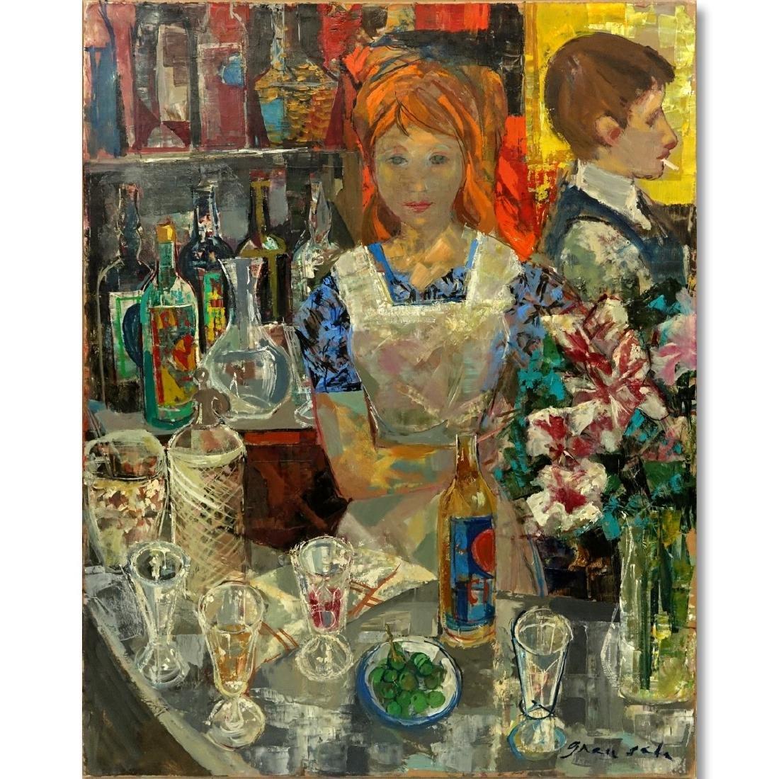 Emilio Grau-Sala, Spanish  (1911 - 1975) Oil