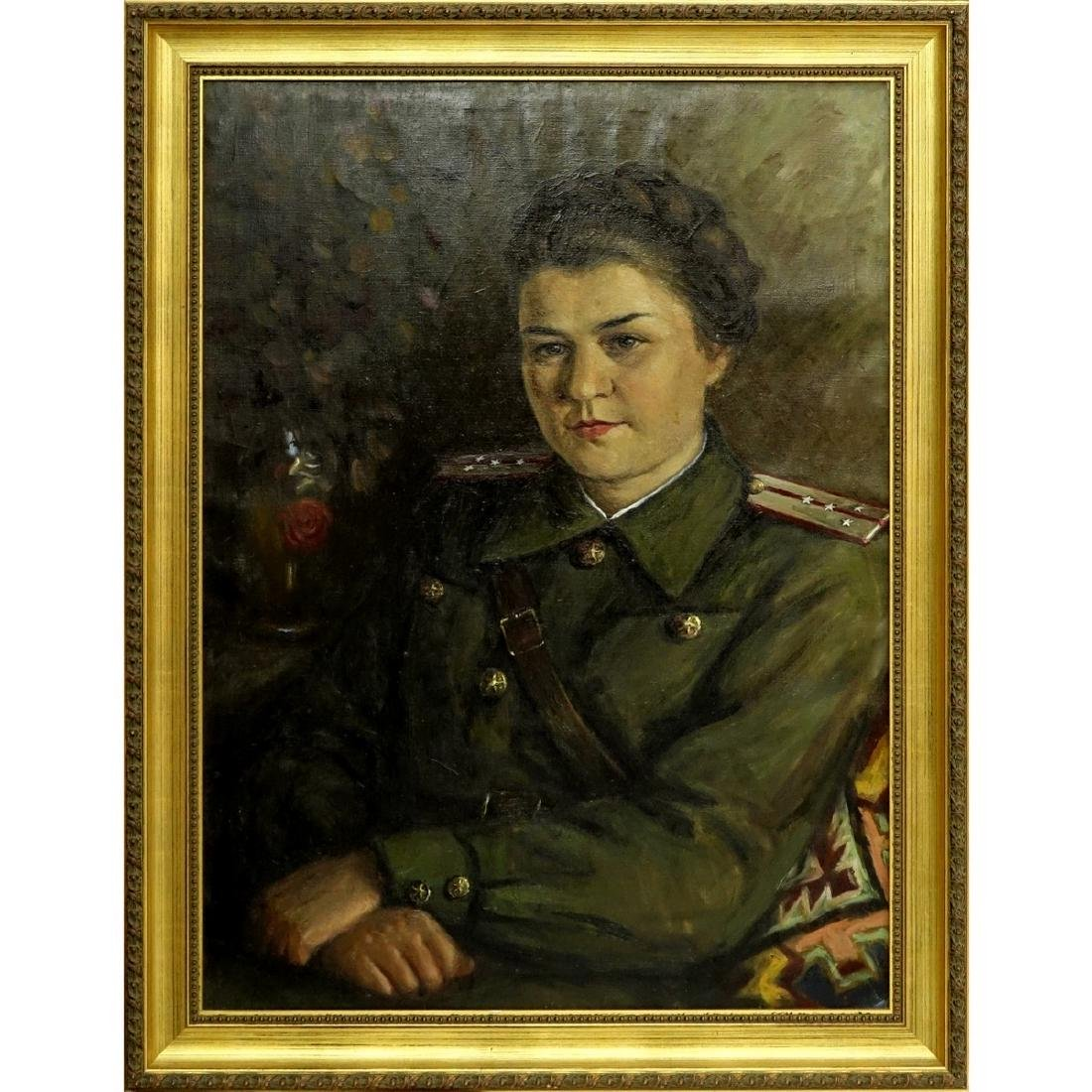 20th Century Russian Soviet Era Oil On Canvas - 2