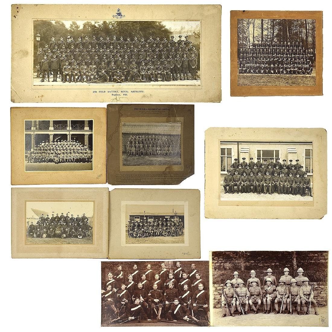 Grouping Of Nine (9) Old Military Photographs