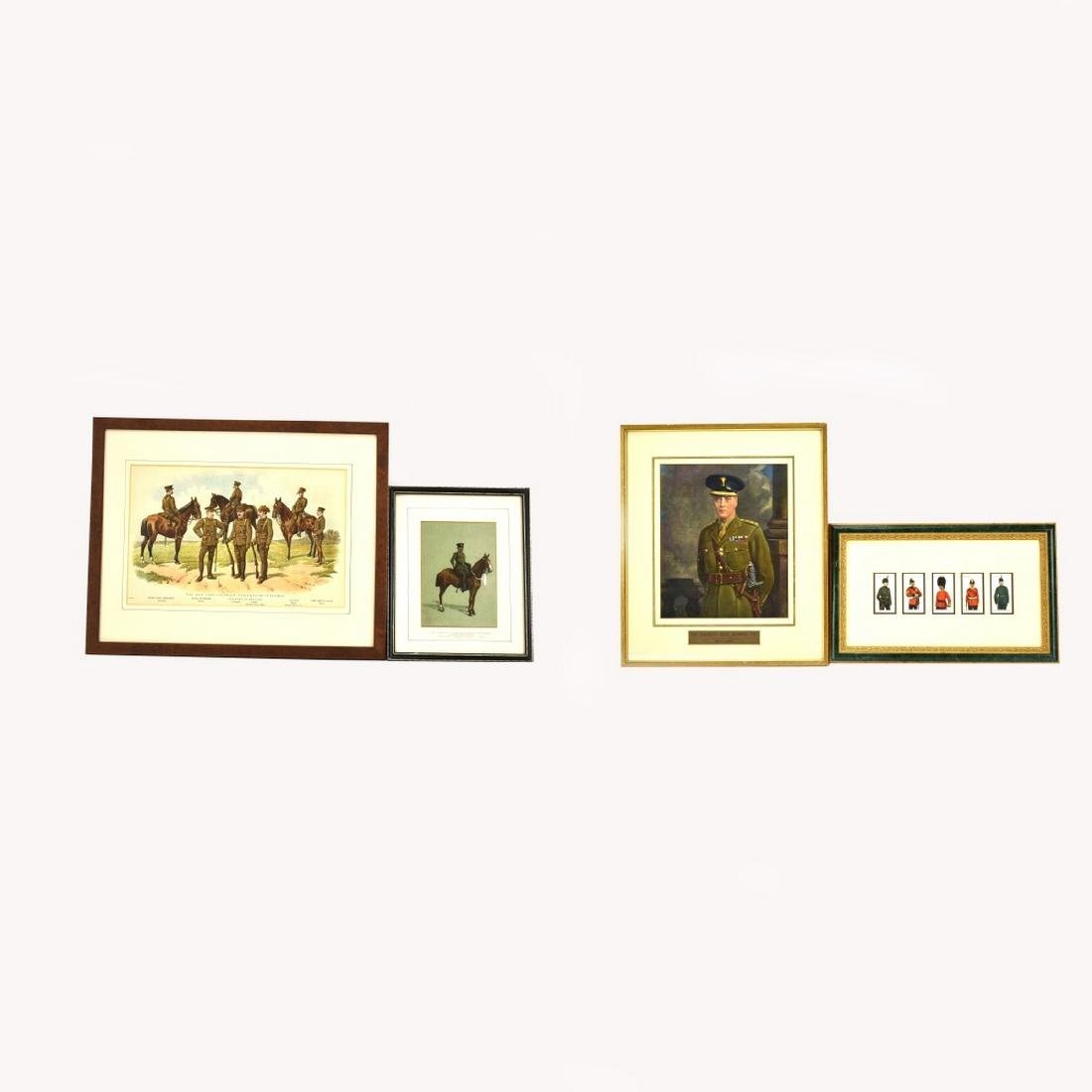 Grouping Of Four (4) Vintage Color Prints, Types