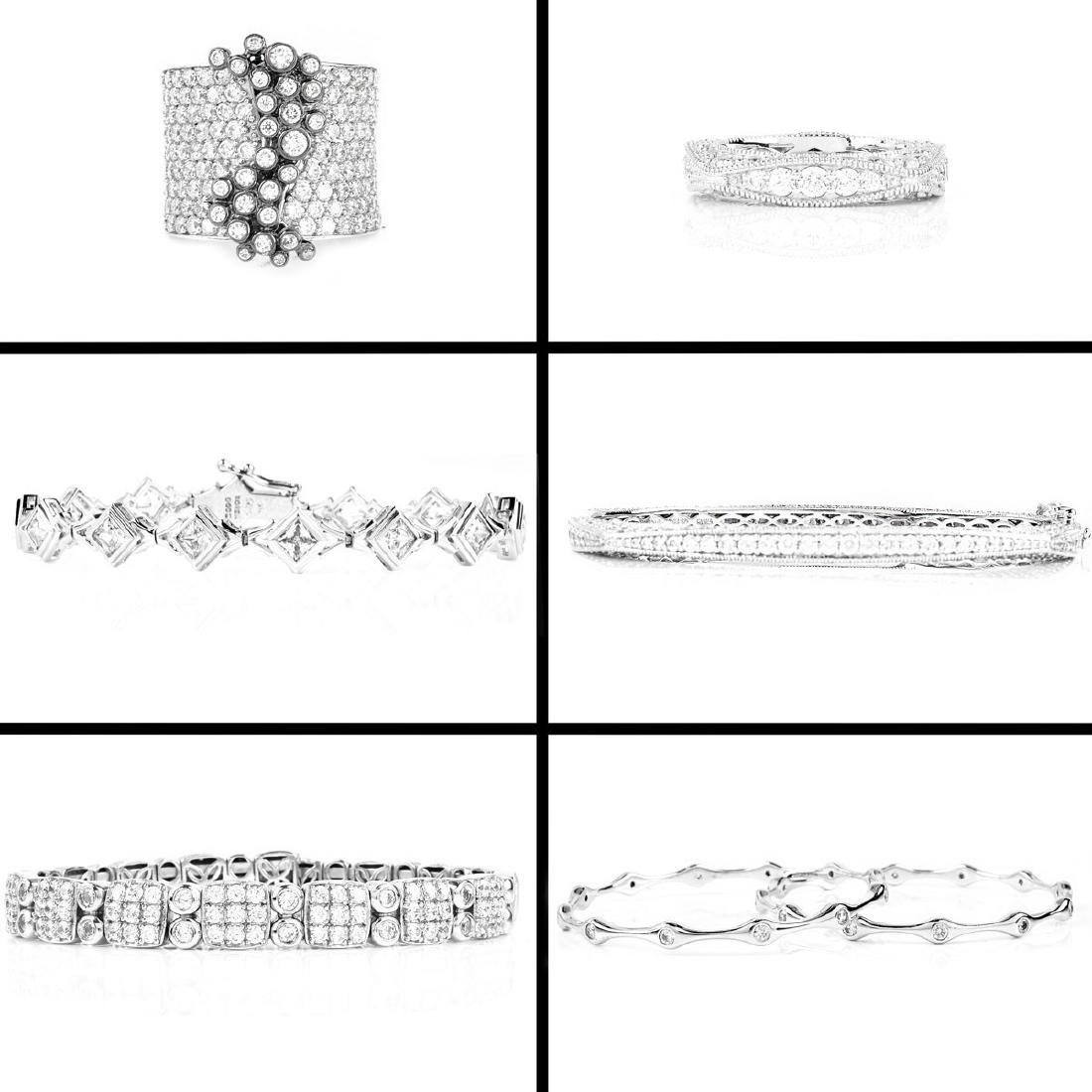 Six (6) Pieces Sterling And CZ Fashion Jewelry