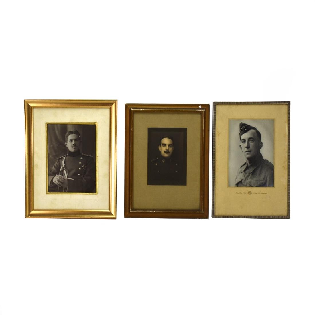 Collection Of Seven (7) Framed Old Military Photos - 4