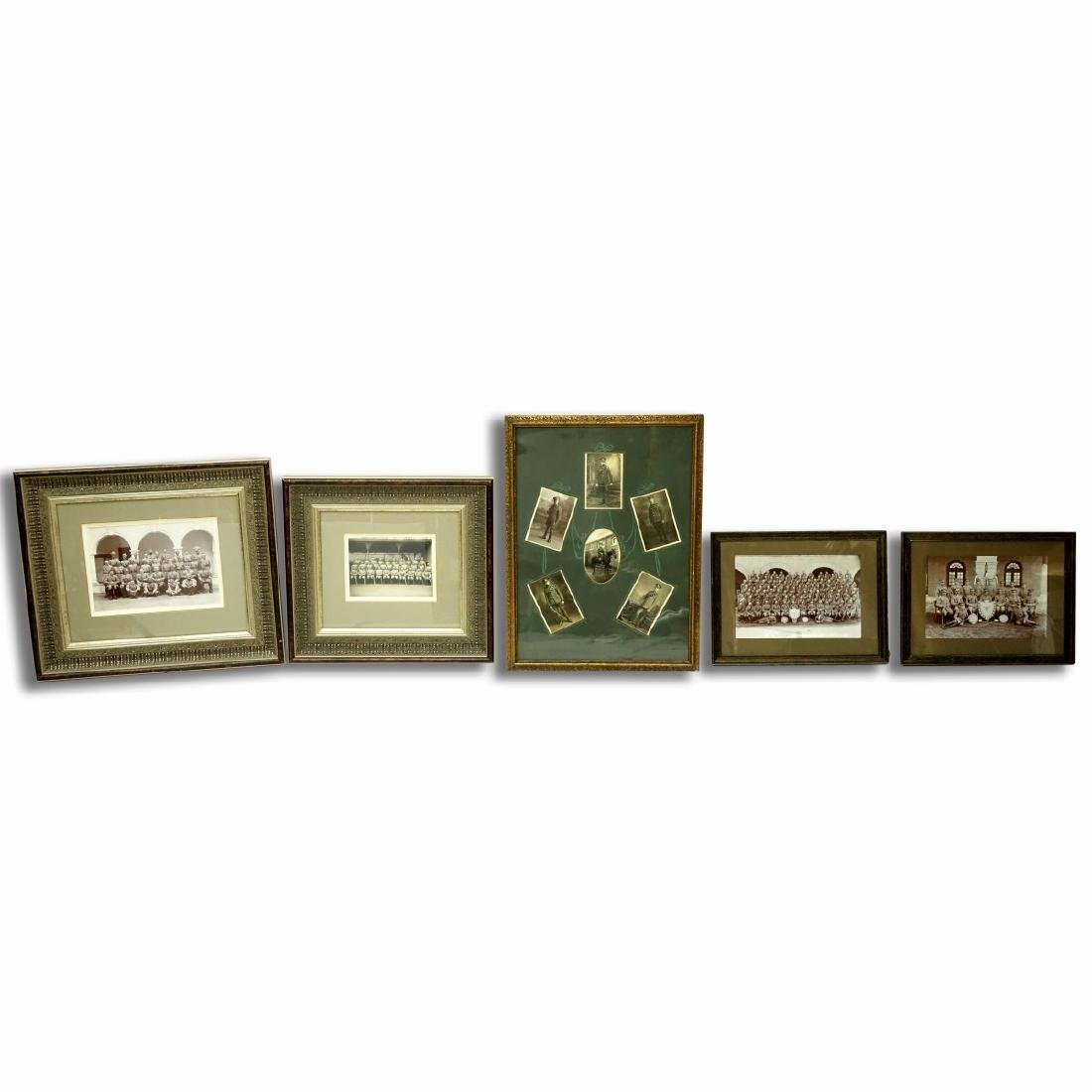 Collection Of Five (5) Framed Old Military