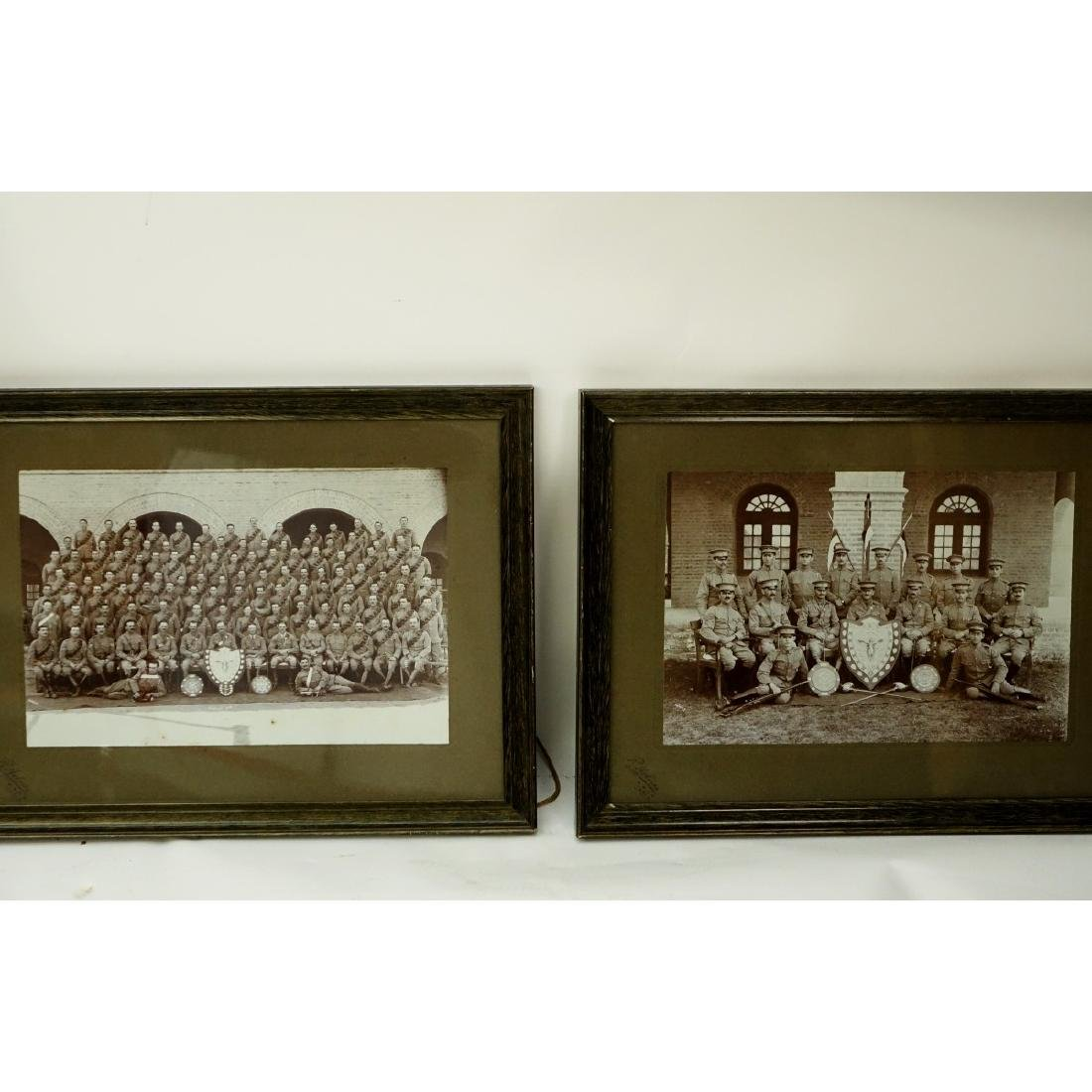 Collection Of Five (5) Framed Old Military - 3