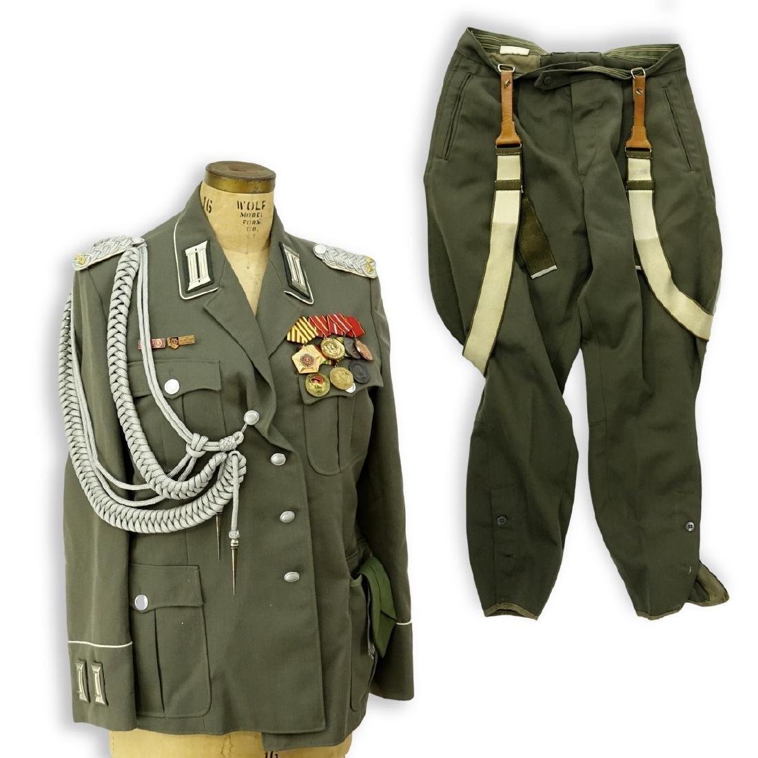 Russian Soviet Era Military Uniform Set With Metal
