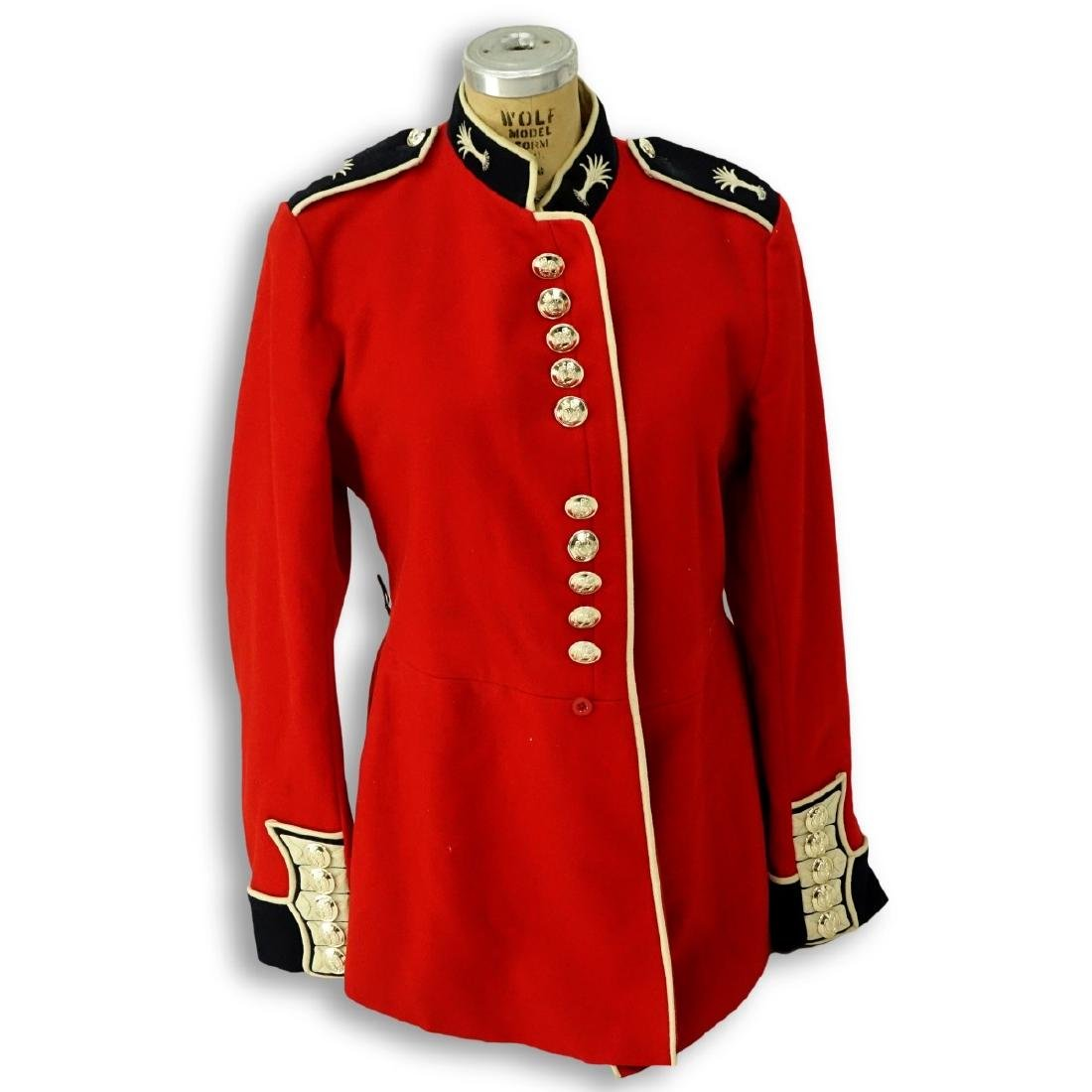 British Army Welsh Guards Red Wool Tunic Coat.