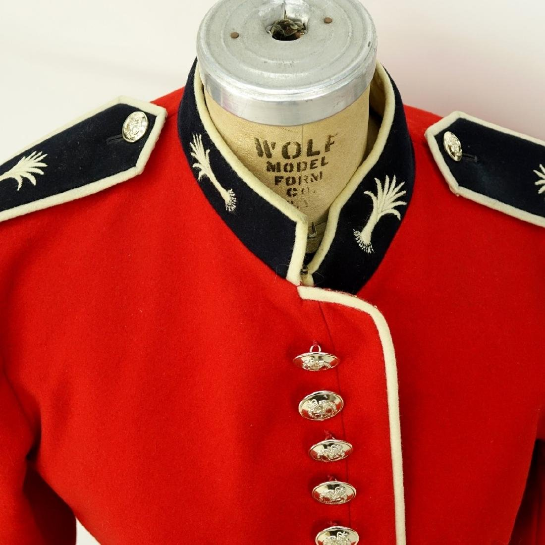 British Army Welsh Guards Red Wool Tunic Coat. - 2