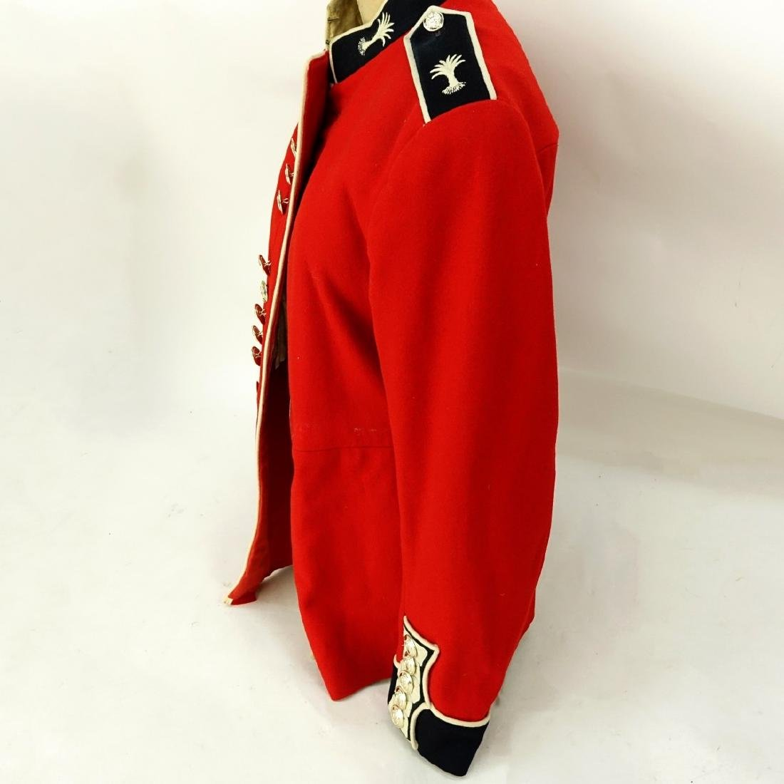 British Army Welsh Guards Red Wool Tunic Coat. - 3