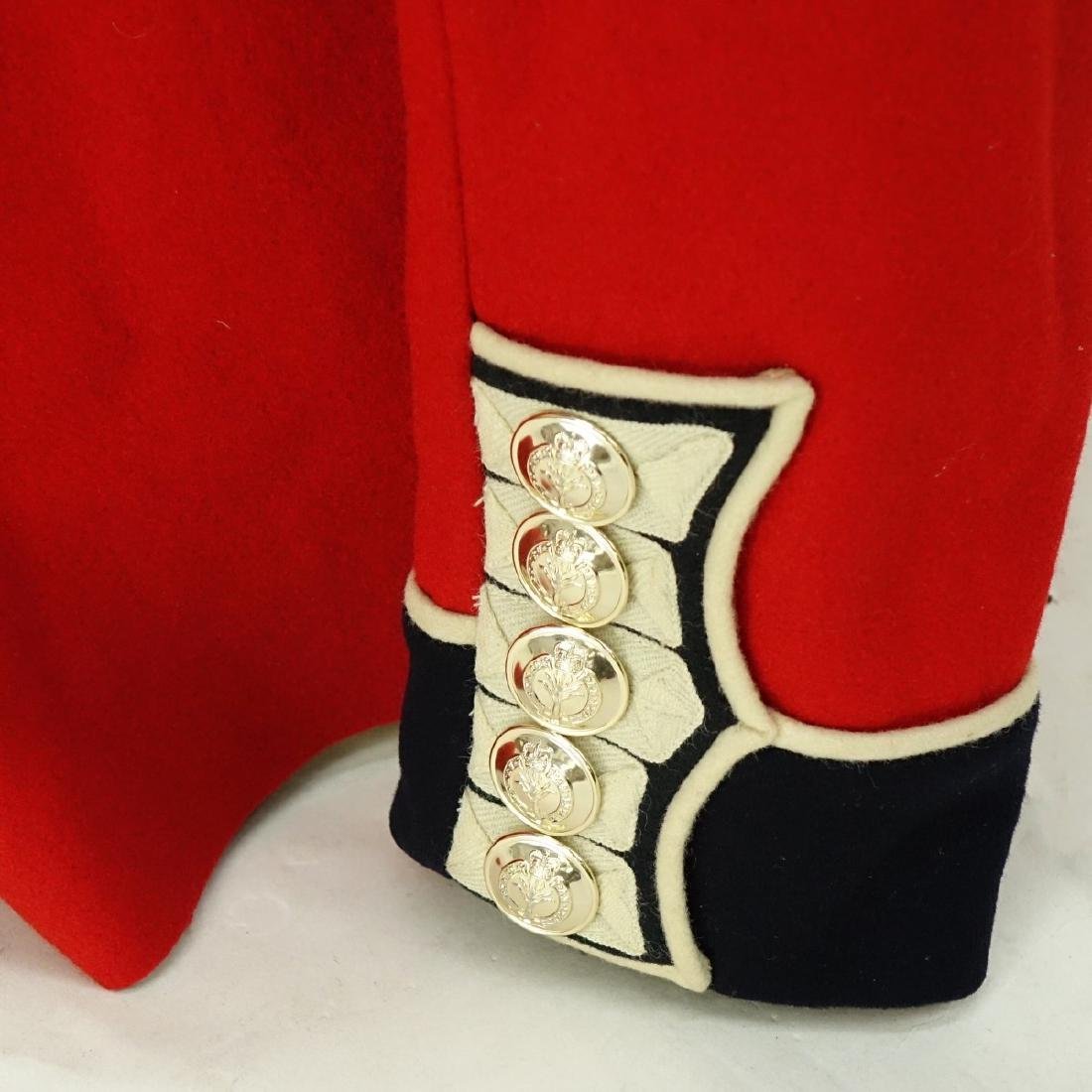 British Army Welsh Guards Red Wool Tunic Coat. - 4