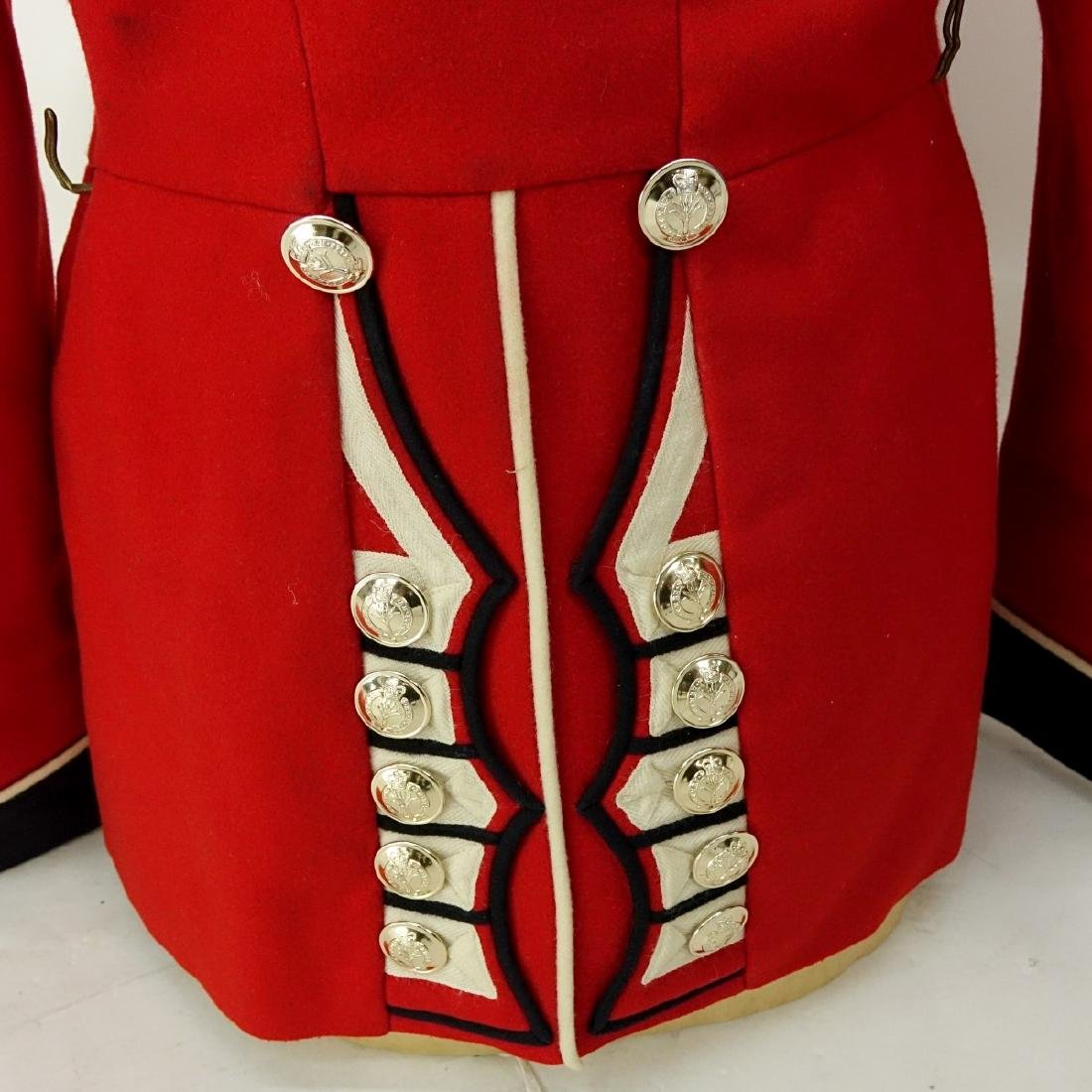 British Army Welsh Guards Red Wool Tunic Coat. - 6