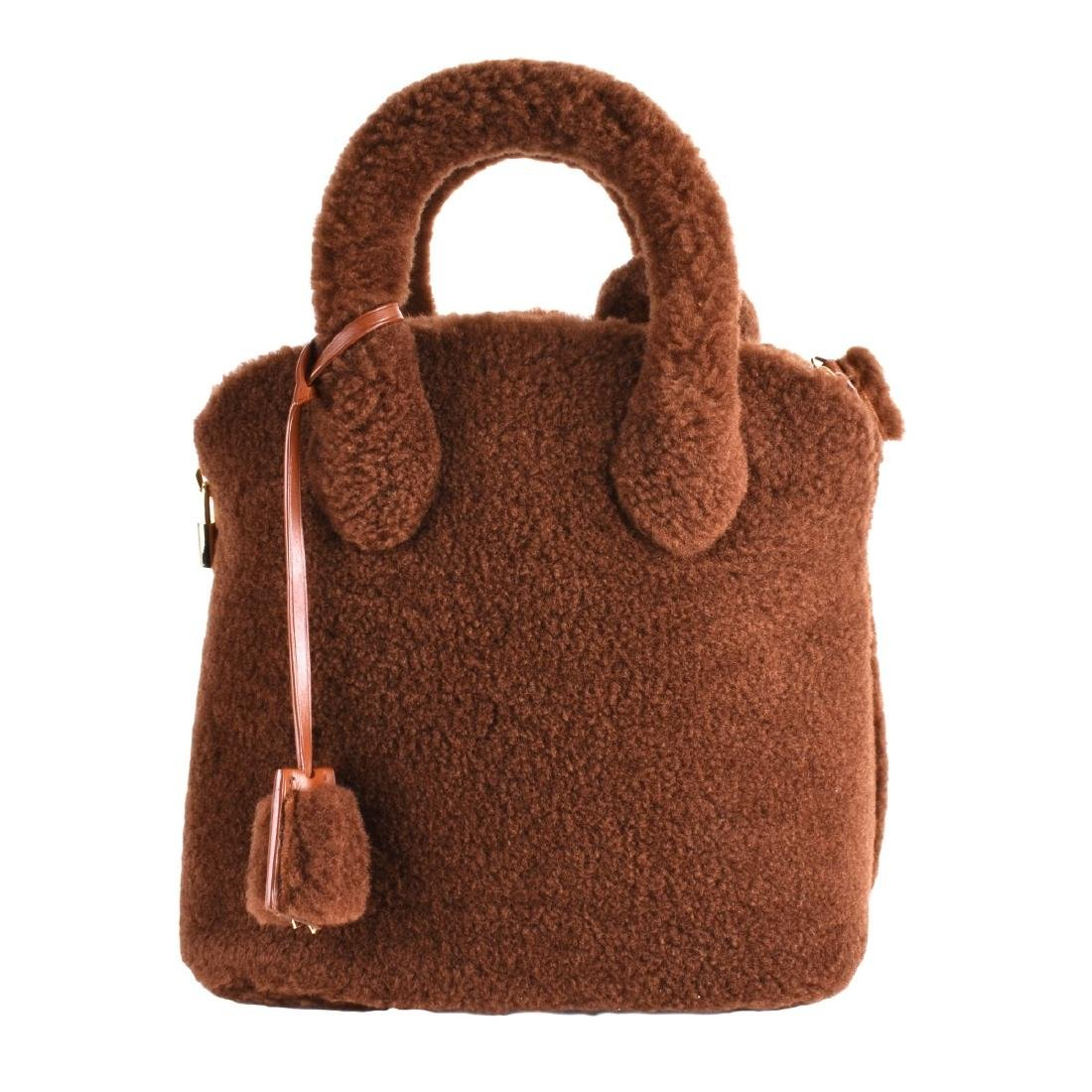 Louis Vuitton Brown Lockit Shearling Pulsion
