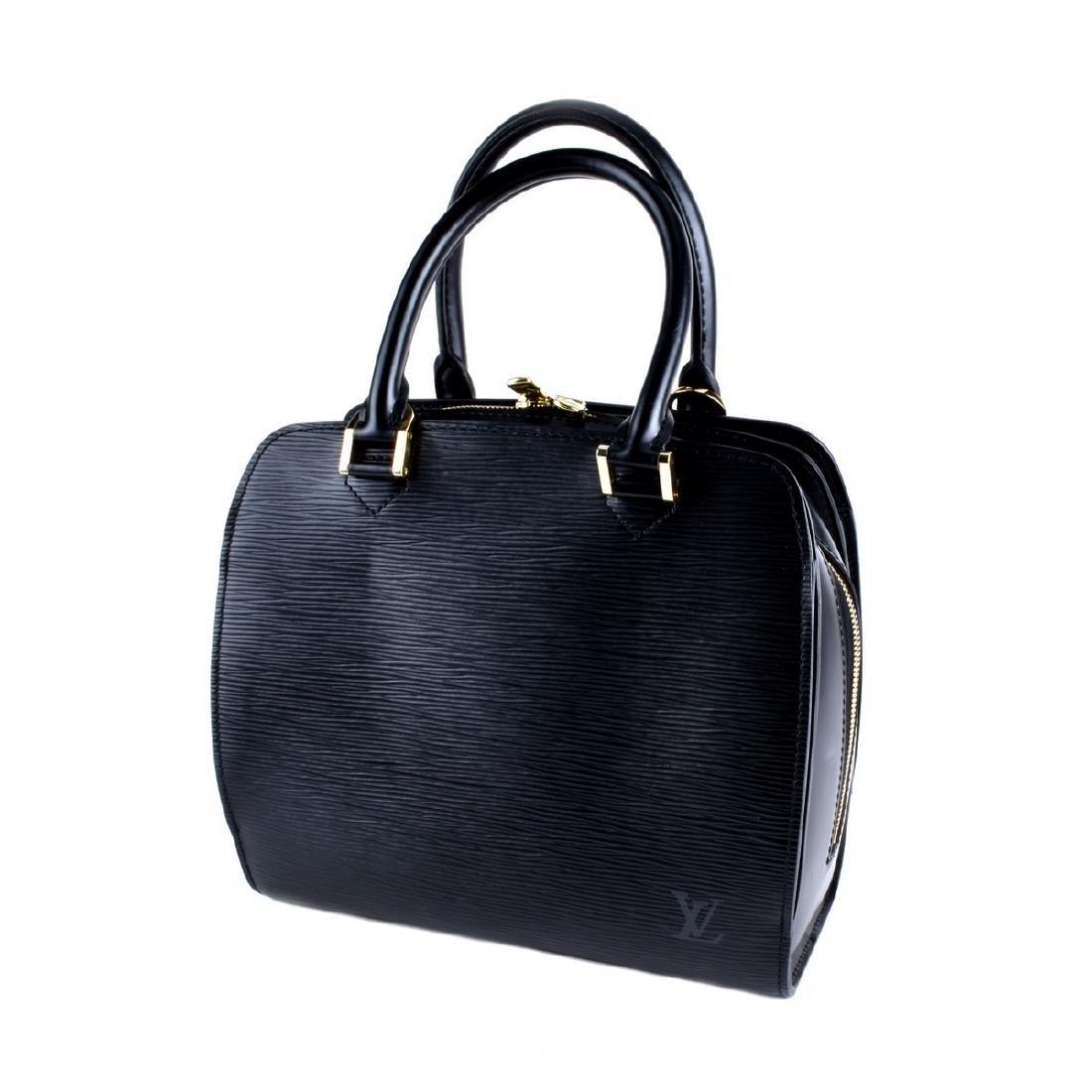 Louis Vuitton Black Epi Leather Pont-Neuf Handbag