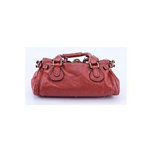 58557c2fd16 See Sold Price. Chloe Dark Orange Leather Paddington MM Handbag ...