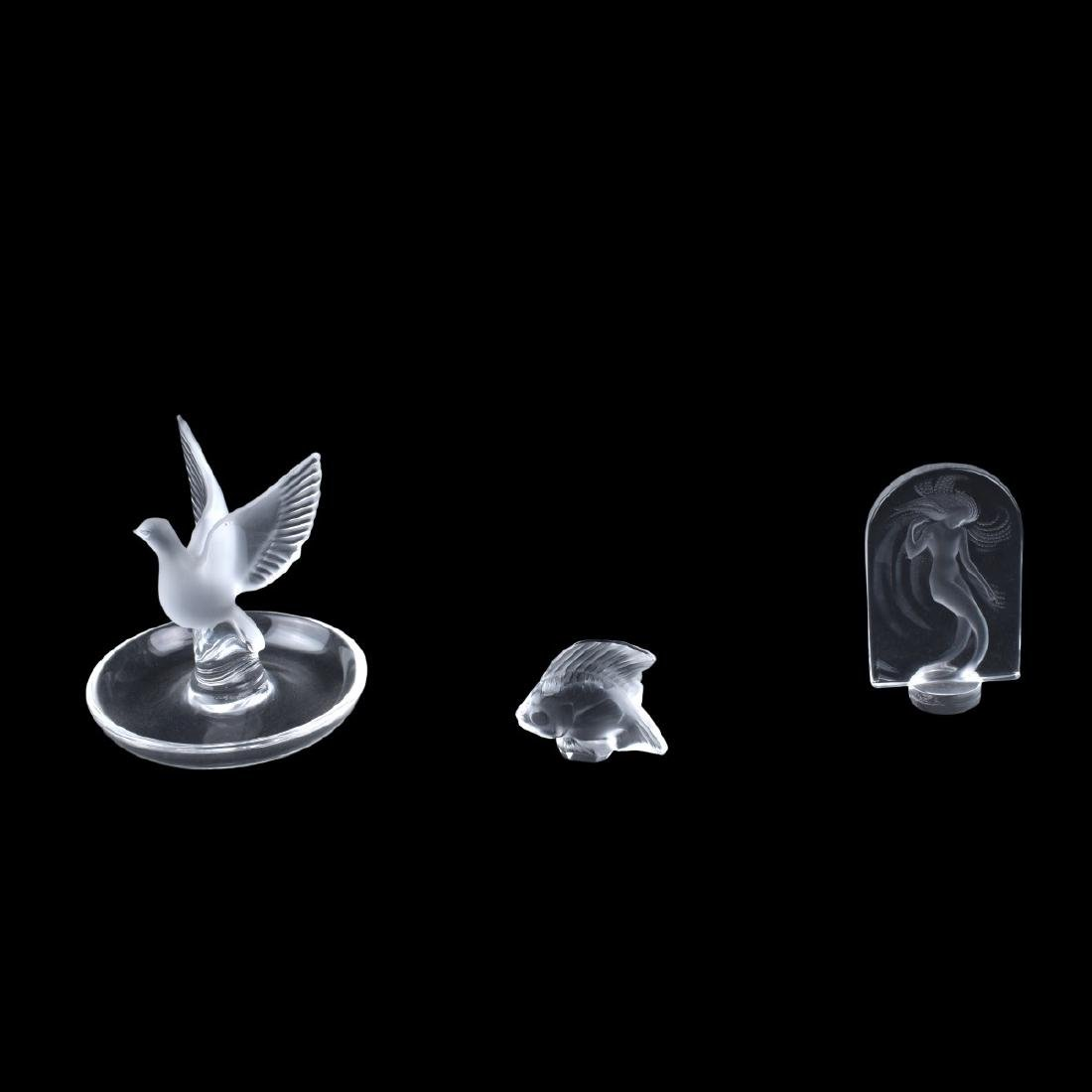 Grouping of Three (3) Lalique Crystal Figurines