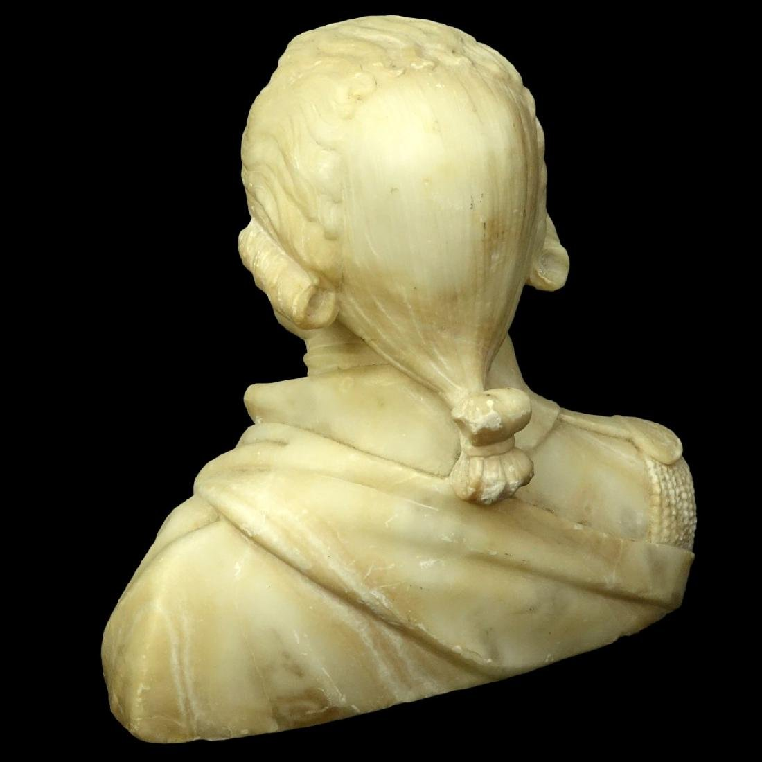 Vintage Carved Alabaster Bust - 4