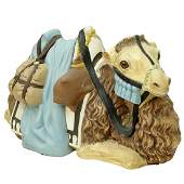 Large Roz Hand Painted Pottery Figure of a Camel