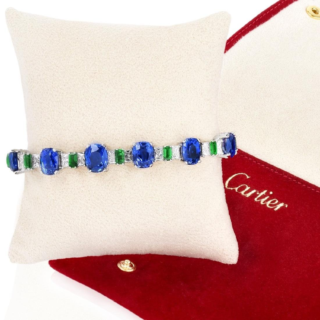 Cartier Sapphire, Emerald and Diamond Bracelet