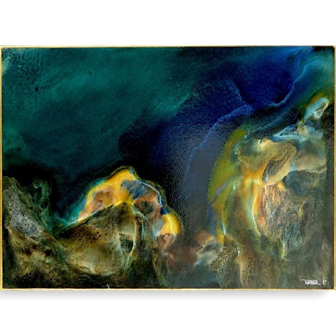 Leonardo Nierman (born 1932) Oil on Masonite
