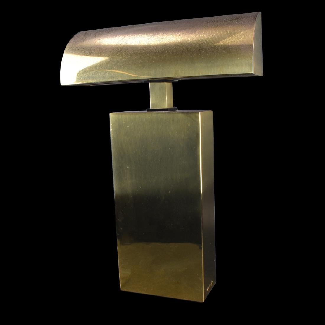 Karl Springer Brass Sculpture Lamp